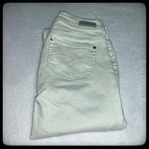 Girls Justice pearly off white jeans size 14S
